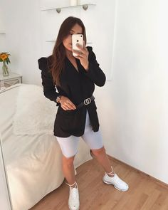 Dámske čierne sako s opaskom Blazers, Selfie, Blazer, Sports Jacket, Selfies