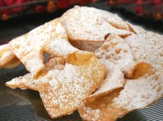 chrusciki.  Traditional Polish holiday dessert.  In a Polish family, I've grown up with these and love them!