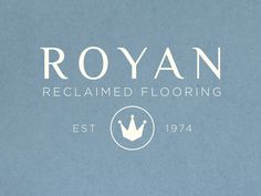 Classic logo design and business card for Royan Reclaimed Flooring.