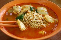 Tom Yum Fish Noodles from Sabah Borneo.