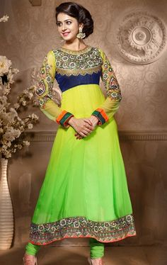 Picture of Ethereal Green Indian Churidar Kameez
