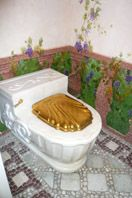 The gold toilet seat at Gianni Versace's mansion in Miami