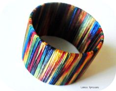 Ombré Bangle with matching Ribbon Ring by LionessXpressions, $14.00