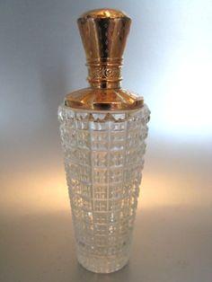 Kristallen parfumflesje met gouden dop | Parfumflesjes | Collectie | Antiek Zilver