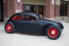 VW Beetle # hot rod # black and red # bad ass ♠. X Bros Apparel Vintage Motor T-shirts, Volkswagen Beetle & Bus T-shirts, Great price… ♠ Rat Rods, Vw Rat Rod, Volkswagen Jetta, Volkswagen Germany, Carros Vw, Combi Wv, Kdf Wagen, Vw Vintage, Vw Cars