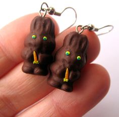 Hey, I found this really awesome Etsy listing at https://www.etsy.com/listing/124102222/chocolate-easter-bunny-earrings