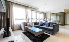 Delightful Place To Stay In Bangkok  Learn more of this building & available apartments or condos for rent, go to:   http://bangkokcondofinder.com/bangkok-condos-for-rent/   This is a delightful place to stay in Bangkok in a popular high rise in Sukhumvit.  This 3-bedroom and 3-bathroom condo at The Emporio Place is 162 square meters wide, furnished, and now available on freehold.  It also features a covered balcony with patio furniture, tiered windows in the l...
