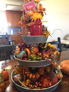 Fall 3 tier tray