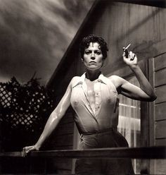 """""""Sigourney Weaver"""" in 1995 by Helmut Newton (Berlin 1920-Los Angeles 2004). Was a German-Australian photographer. Helmut established a particular style marked by erotic, stylized scenes, often with sado-masochistic and fetishistic subtexts. The actress Sigourney Weaver was 46 years old when this photo was taken for Vanity Fair."""