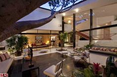 Brody House - Architecture by A. Quincy Jones, interiors by Billy Haines, and landscaping by Garrett Eckbo