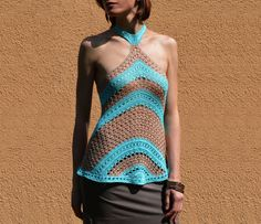 Crochet halterneck top PATTERN detailed by CONCEPTcreative on Etsy