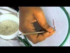 ▶ How to Stitch Pearls Chain in Aari (Tambour) or Maggam work - YouTube