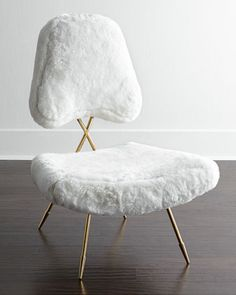 Jonathan Adler Shearling Lounge Chair