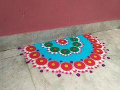 Rangoli Beach Mat, Outdoor Blanket, Doodles, Kids Rugs, Home Decor, Homemade Home Decor, Kid Friendly Rugs, Scribble, Sketches