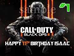 2 Call of Duty Black Ops III Edible Cake Topper by ItsEdible