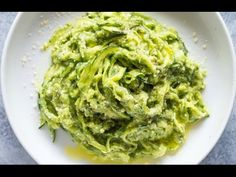 Zucchini Pasta (Zoodles) with Avocado Sauce | Gimme Delicious