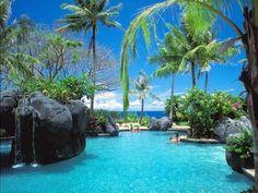 Hawaii Paradise Pools, Sea Paradise, Tropical Paradise, World Most Beautiful Place, Beautiful Places To Visit, Amazing Places, Wonderful Places, Tahiti, Beautiful Pictures