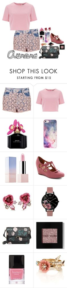 """""""Aurora"""" by daciejeanne ❤ liked on Polyvore featuring Topshop, Alice & You, Marc Jacobs, BlissfulCASE, Sephora Collection, Jeffrey Campbell, Betsey Johnson, Olivia Burton, Marni and Bobbi Brown Cosmetics"""