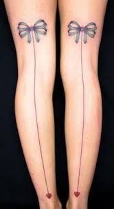 Image result for stocking seam tattoo with bows