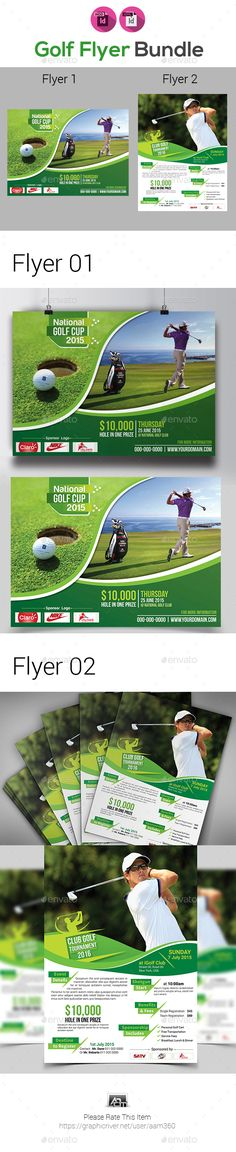 Golf Tournament Flyer  Adobe Flyer Template And Template