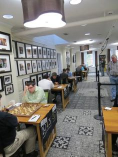 The setup for the 2013 US Championships in the Chess Club and Scholastic Center of St. Louis