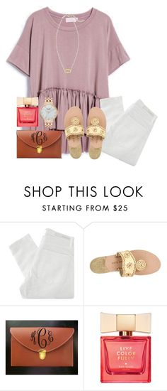 """""""Something about you makes me smile"""" by xofashionbabe ❤ liked on Polyvore featuring Nobody Denim, Jack Rogers and Kate Spade"""