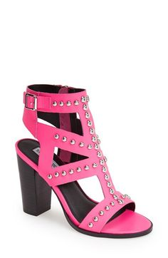 Steve Madden 'Serenna' Studded Caged Leather Sandal (Women) available at #Nordstrom