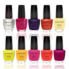 Nanacoco Nail Polish Color Lacquer Set 10-Piece Collection -17 It's Nudes *** For more information, visit image link.