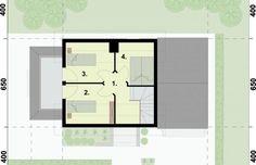 Projekt domu wielorodzinnego ORLEAN 5 dom letniskowy z poddaszem - rzut poddasza House Plans, Floor Plans, How To Plan, House 2, House Plans Design, House Floor Plans, House Design, Floor Plan Drawing, Home Plans
