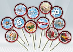 Disney Planes Cupcake Toppers by DigiPartyShoppe on Etsy, $4.00