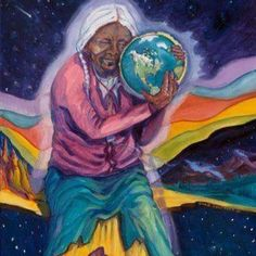 May our Kuns'i Maka (grandmother earth) feel the United healing prayers through and through 💚🌀🌎🙏🏽. Respect Your Elders, Law Of Love, Modern Indian Art, Chief Seattle, Native American Artists, Bright Future, Native Art, Western Art, Gods And Goddesses