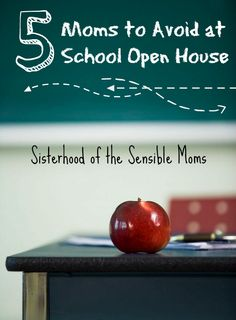 5 Moms to Avoid at School Open House. A little funny for your back to school. Consider yourself warned! - Sisterhood of the Sensible Moms