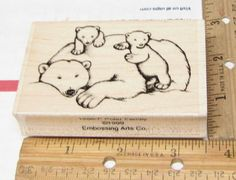 POLAR BEAR FAMIL BY EMBOSSING ARTS  RUBBER STAMP #EMBOSSINGARTS #rubberstamp Emboss, Polar Bear, Card Ideas, Christmas Cards, Stamps, Card Making, Scrapbooking, Things To Sell, Crafts