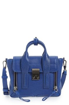 Free shipping and returns on 3.1 Phillip Lim 'Mini Pashli' Leather Satchel at Nordstrom.com. Richly textured leather shapes a compact satchel styled with edgy, exposed-zip gussets and gleaming tonal hardware. An optional crossbody strap offers chic versatility.