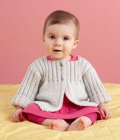 Free Knitting Pattern L10681 Everyday Baby Cardi : Lion Brand Yarn Company