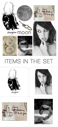 """""""moon in scorpio"""" by kittyclogs ❤ liked on Polyvore featuring art"""