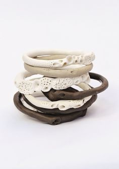 Rock Coral Bangles by Katherine Wheeler
