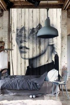 Love this industrial bedroom | Discover more interior design styles on The LuxPad
