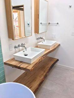 Live Edge Holz Eitelkeit Live Edge Holz Arbeitsplatten Etsy Wood Countertops Kitchen Bathroom Countertops Diy Wood Countertops