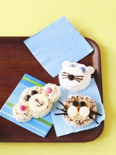 Make Rice Krispies Treats in the shape of zoo animals, such as monkeys, bears, lions and elephants, using cookie cutters. Decorate with coloured royal icing and little candies or cut-up fruit to create animal faces. Birthday party ideas: Zoo | Today's Parent