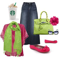 Bright and Cheery. This has my sister's name written all over it! And the Starbucks is for me. ;)