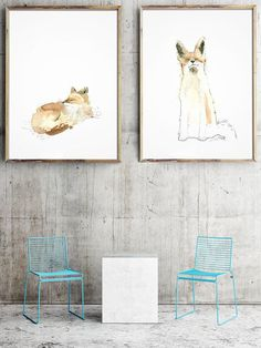 Fox Watercolor Art Fox Art Poster Rustic Fox Art Watercolor by LadyWatercolor | Etsy #watercolor #fox #cute #wild #nursery #baby #illustration #art #set #picture #poster #animals #prints #rustic