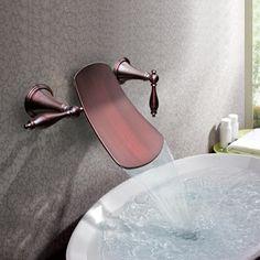 robinet cascade, mitigeur en cuivre, design ancien