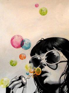 burbujas de colores    via observando