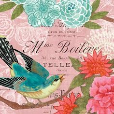 French Bird Pink by Jennifer Brinley | Ruth Levison Design