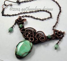 Chrysoprase and cooper wire