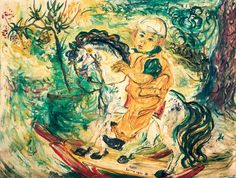 Boy on a Rocking Horse, 1953, Affandi