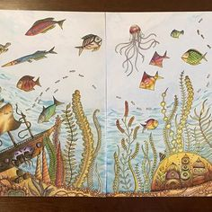 Sending this off as the prize for the winner of a coloring raffle I held last Christmas #johannabasford #livrocoloriamo #colorista #kolorista #adultcoloringbooks #livrocoloriamo #lostocean #coloringbooksforadults #fabercastell #fabercastellph #polychromos