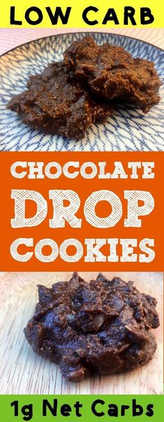 These low carb Keto no bake chocolate peanut butter drop cookies make the perfect low carb dessert or coffee break. They are the height of ooey gooey goodness. These cookies are Ketogenic, Paleo, Keto, Atkins, Low Carb, Banting, THM-S, LCHF, Grain Free, Gluten Free and Sugar Free compliant. #resolutioneats #lowcarb #keto #cookies #chocolate #peatnutbutter