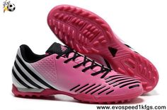 Star's favorite Adidas Predator LZ TRX TF Super Pink-White-Black Released-Pink Soccer Shoes For Sale